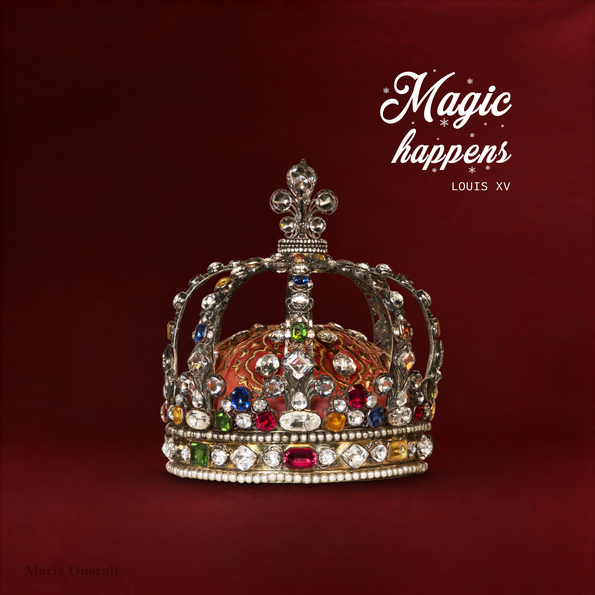 Wishing you a Merry Christmas. Crown of Louis XV. Photography and retouch by Maria Queralt