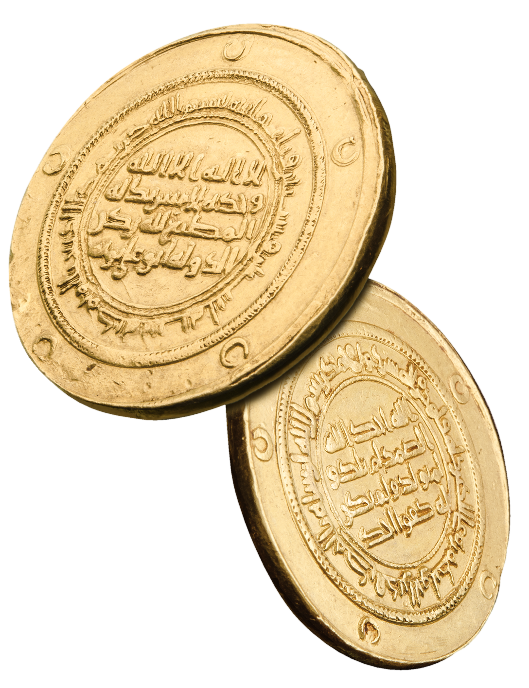 BUWAYHID, RUKN AL-DAWLA, Donative 10-dinars, al-Muhammadiya 362h, gold. Photographed for Morton and Eden in association with Sotheby's sold in auction in London Photography and retouch by Maria Queralt