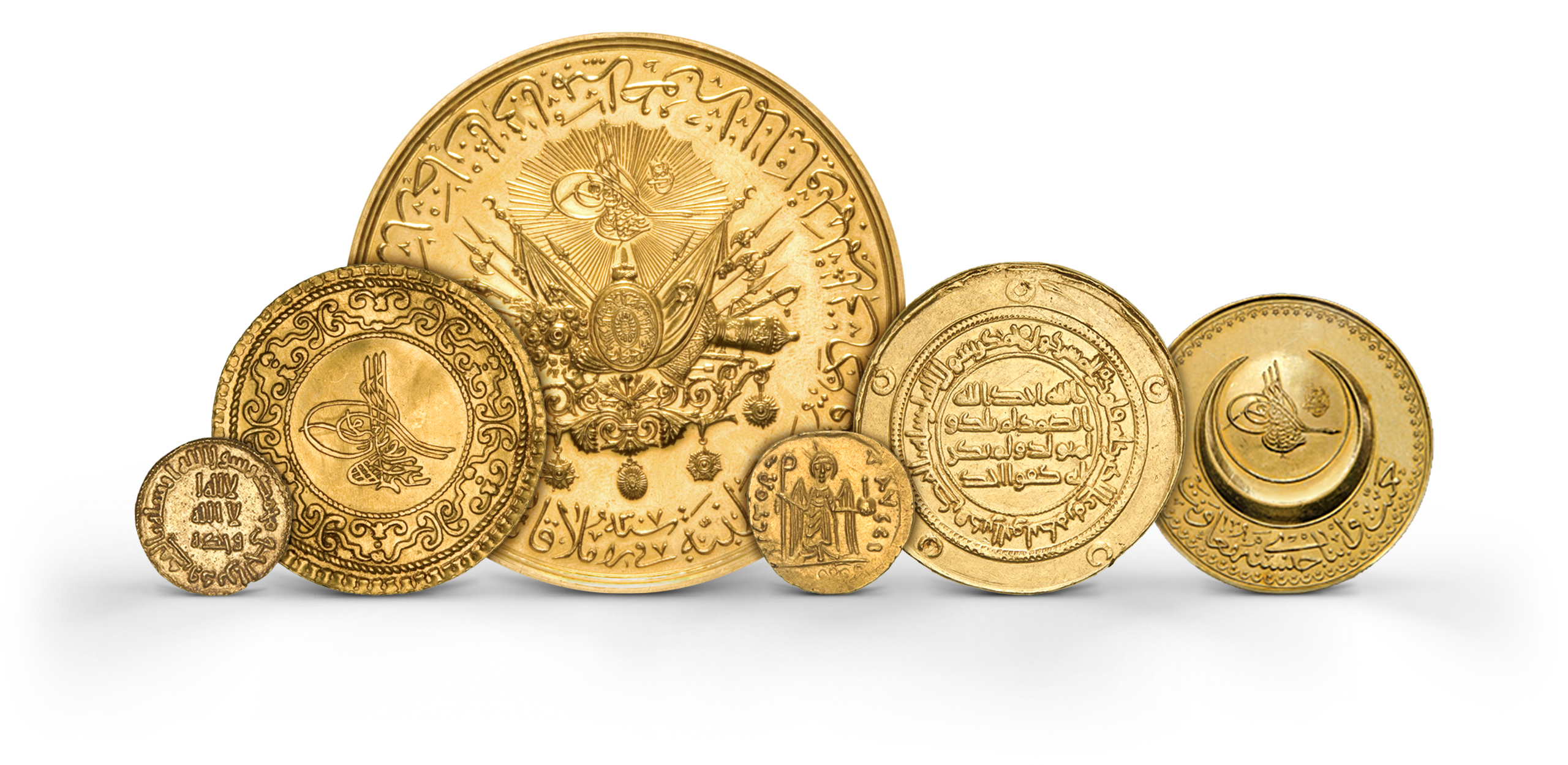 Photography of Islamic dinars Coins in gold from several periods, photographed for Morton and Eden in association with Sotheby's sold in auction in London Photography and retouch by Maria Queralt