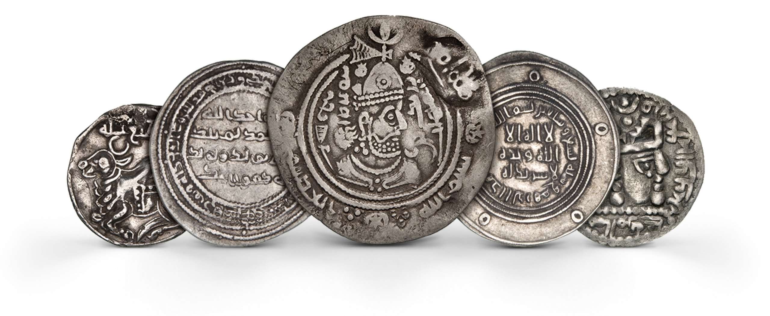 Photography of Islamic dirham Coins in silver from several periods, photographed for Morton and Eden in association with Sotheby's sold in auction in London Photography and retouch by Maria Queralt