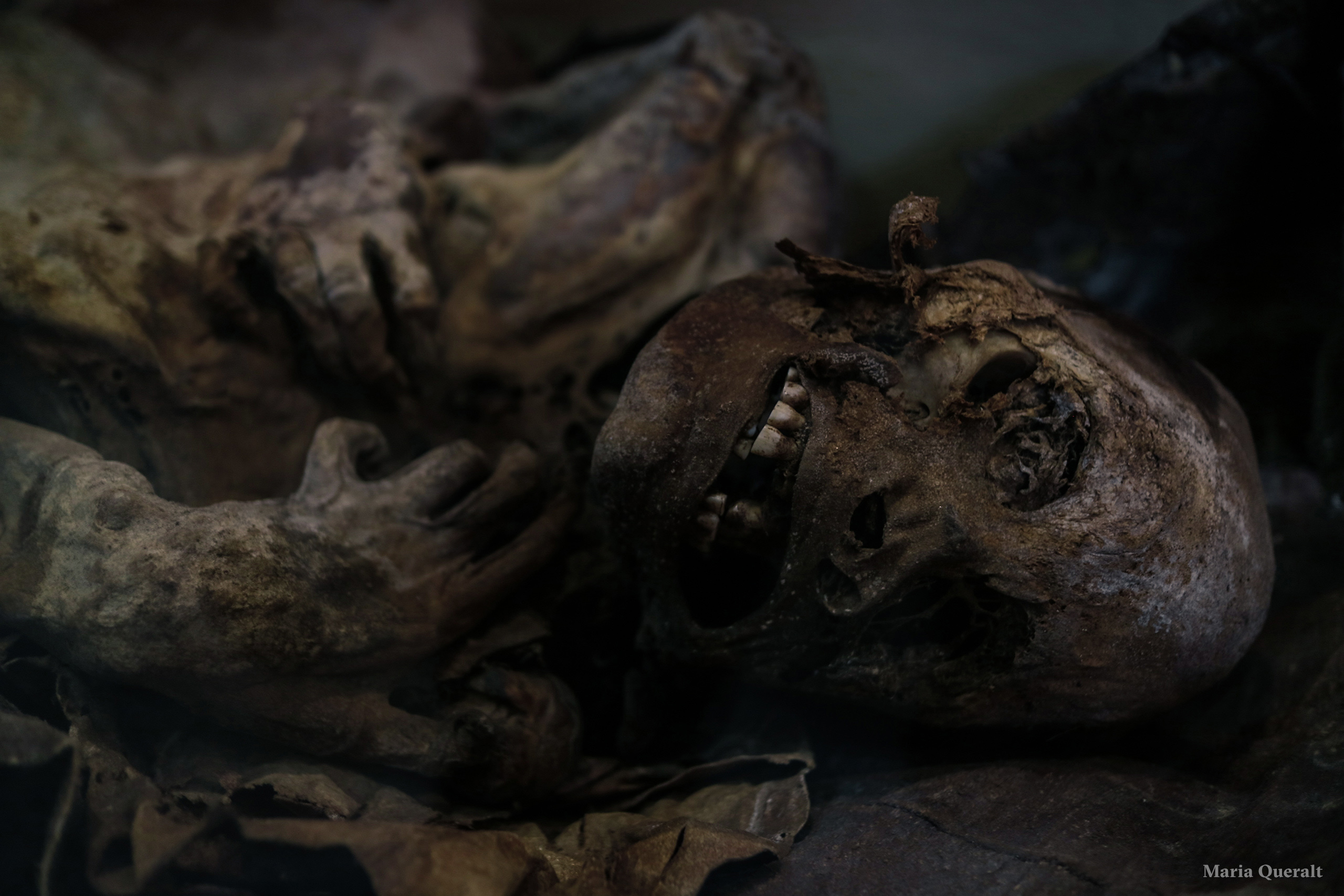 Portrait of a Chilean Mummy, Punta Arenas, Chile. Photography and retouch by Maria Queralt