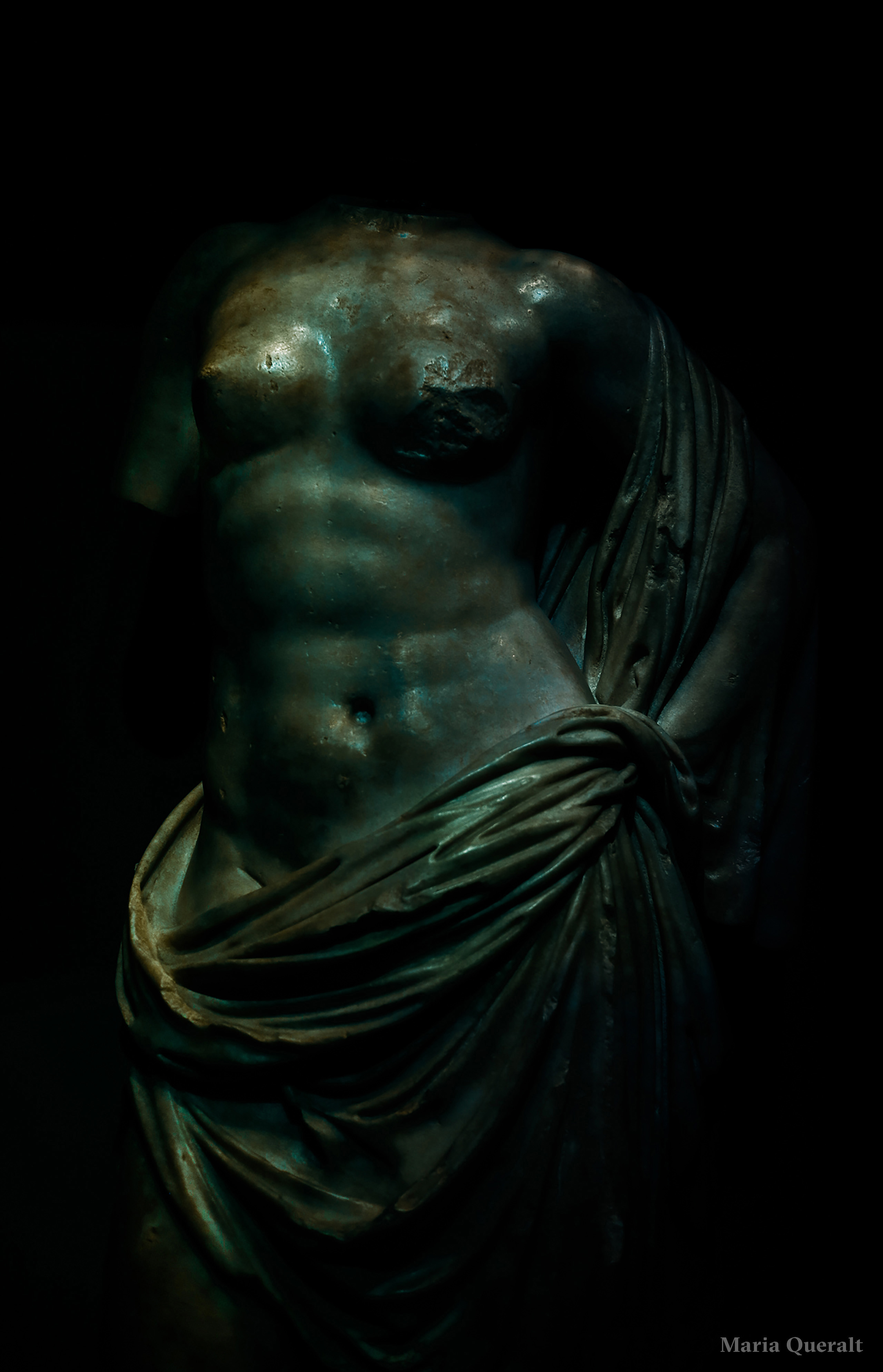 Digital art work based on the carrara marble sculpture of Venus at the Museo Provincial de Zaragoza original from Rome. Photography and retouch by Maria Queralt