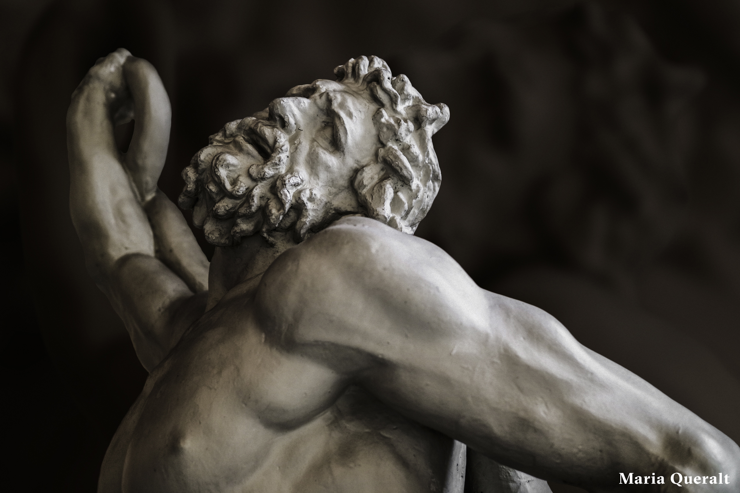 Sculpture in marble of Laocoön and His Sons, the Laocoön Group, Vatican Museums, Vatican City, Italy, Photography and retouch by Maria Queralt
