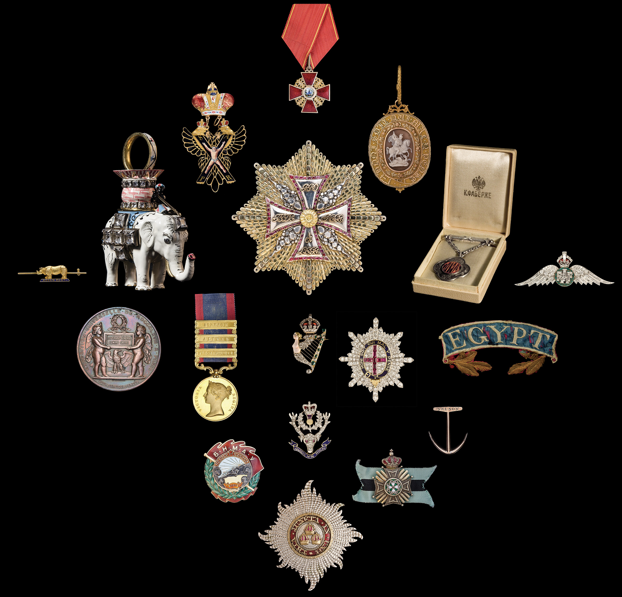 Photography of Medals, Orders and Decorations from several periods and countries, photographed for Morton and Eden in association with Sotheby's sold in auction in London Photography and retouch by Maria Queralt