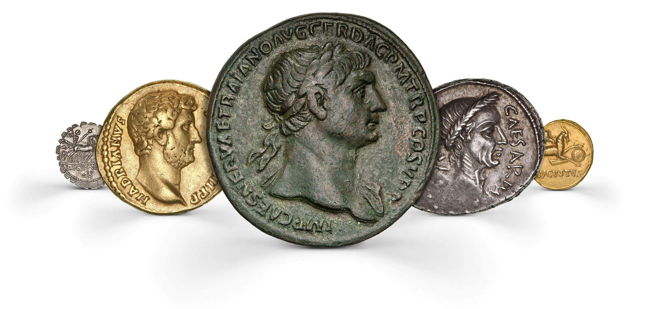 Photography of roman Coins in gold, silver and bronze from several periods, photographed for Morton and Eden in association with Sotheby's sold in auction in London Photography and retouch by Maria Queralt