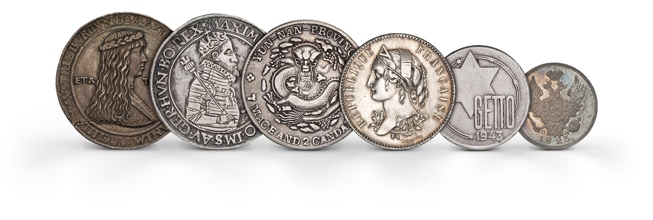 Photography of world modern Coins in silver from several periods, photographed for Morton and Eden in association with Sotheby's sold in auction in London Photography and retouch by Maria Queralt