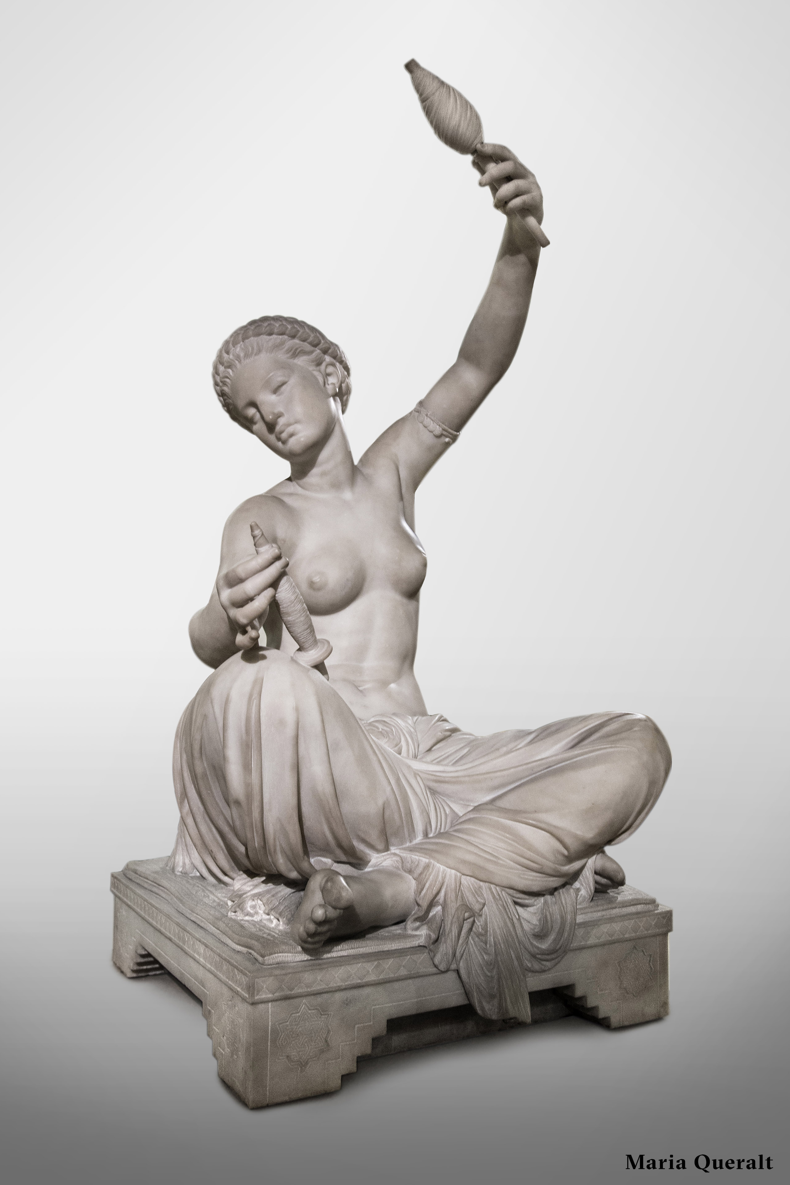 Marble Sculpture named Spinner of Megara by Louis-Ernest Barrias, 1870. Musée D'Orsay, Paris. Photography and retouch by Maria Queralt