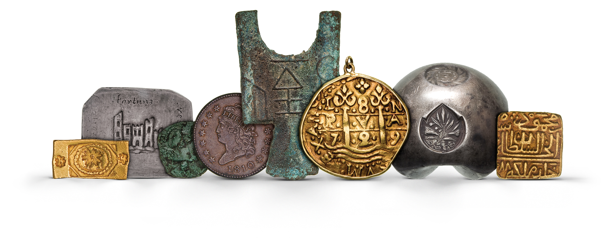 Photography of world modern Coins in gold, silver and bronze and currency from several periods, photographed for Morton and Eden in association with Sotheby's sold in auction in London Photography and retouch by Maria Queralt